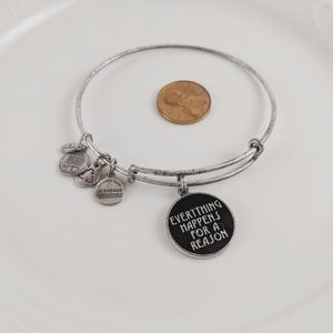 Alex and Ani Silver Everything Happens Bracelet